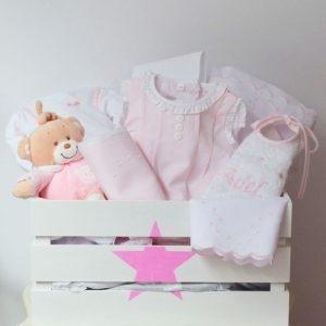 Canastilla Decor Baby en color Rosa | Canastillas