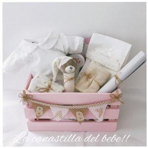 canastilla guapetones en color rosa