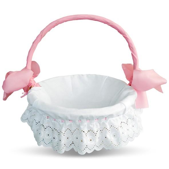 detalle cesta capricho en color rosa