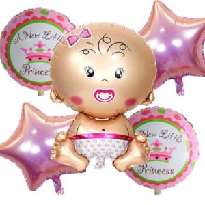 Ramos de Globos de Helio, baby, color rosa | Hecho a mano
