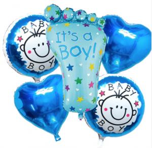Ramos de globos de helio, pies color azul | Hecho a mano