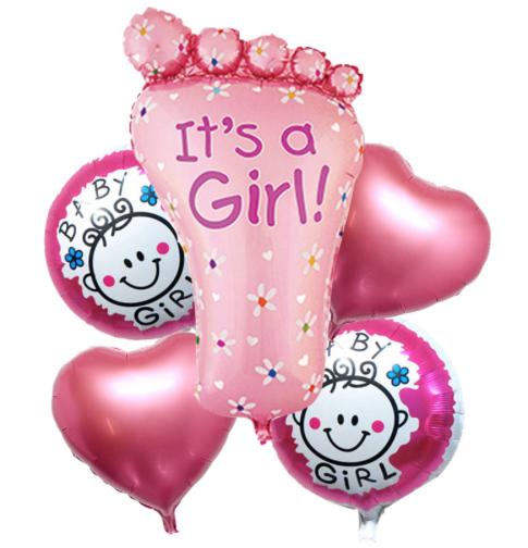 Ramos de globos de helio, pies color rosa | Hecho a mano