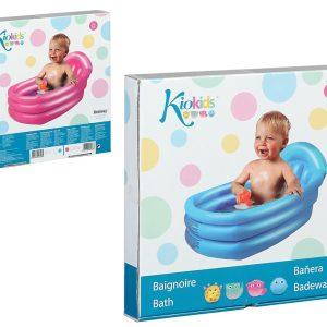 Bañera para Bebés de 0 a 1Año 79X51X33 CMS en color rosa y azul | Al Agua Patos