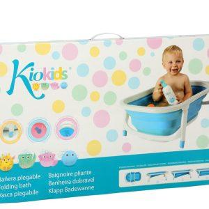 Bañera Plegable con Sensor de calor color azul y rosa Marca KIOKIDS | Al Agua Patos
