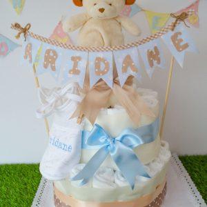 tarta de pañales recién nacido