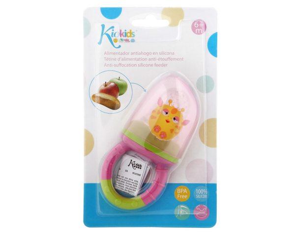 BL. Alimentador Antiahogo en Silicona color rosa Marca KIOKIDS   Productos para la alimentacion de los bebes
