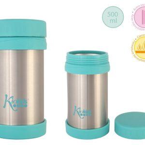 C. Termo Acero Inoxidable Para Alimentos 500 ML color azul Marca KIOKIDS | Productos para la alimentacion de los bebes