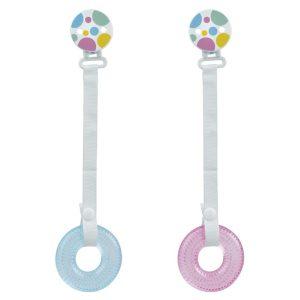 BL/ Mordedor de Frío con Pinza 2 Surt. Marca KIOKIDS en color rosa y azul| Mordedores y Sonajeros para bebes