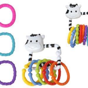 Sol. Sonajero Vaca Aprendizaje, 20.5X14.5CM Marca KIOKIDS | Mordedores y Sonajeros para bebes