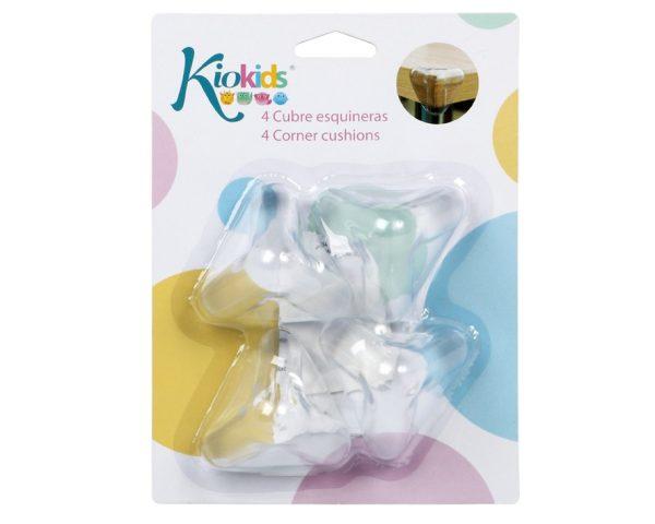 BL. Cuatro Protectores de Esquinas Marca KIOKIDS | Productos para la Seguridad de tu bebe en Casa