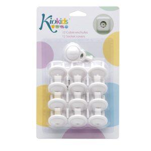 BL. 12 Cubre Enchufes con Llave Marca KIOKIDS | Productos para la Seguridad de tu bebe en Casa