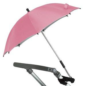 B/P. Sombrilla para Carrito de Bebe color rosa Marca KIOKIDS | Artículos para el Transporte del Bebe