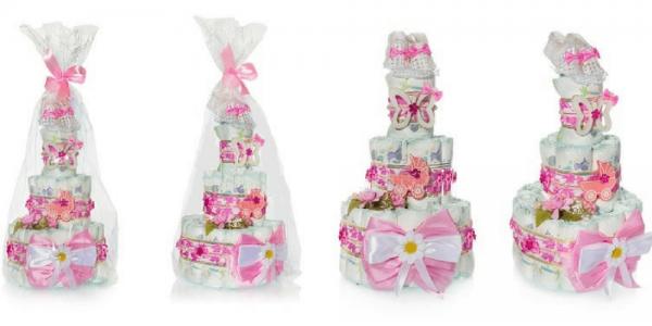 Conoce cómo puedes regalar Tartas de pañales para niñas