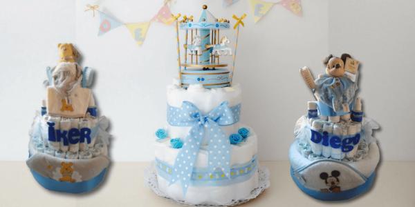 Cómo hacer una tarta de pañales para un baby shower